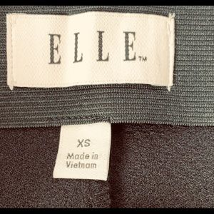 Elle Skirts - ELLE XS Pique A-Line Skirt Black/White Piping